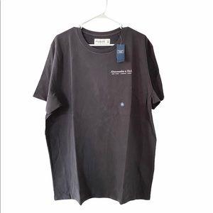 Men's Abercrombie Gray Floral Logo T Shirt XXL NWT